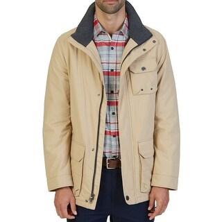 Nautica NEW Beige Mens XL Multi-Pocket Full Zip Field Parka Jacket