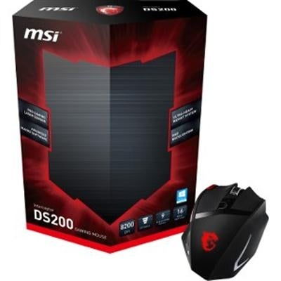 Msi Computer Ds200 1 X Wheel Usb Wired Mouse, Black/Red (S12-0401170-Eb5)
