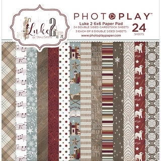 "Photo Play Double-Sided Paper Pad 6""X6"" 24/Pkg-Luke 2, 8 Designs/3 Each"