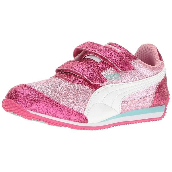cf84905bc74a1c Shop Kids Puma Girls Steeple Glitz Glam V Inf Low Top Walking Shoes ...