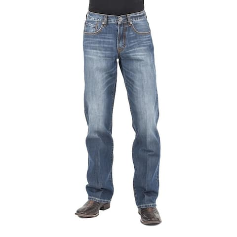 Stetson Western Jeans Mens Low Rise Relaxed Blue