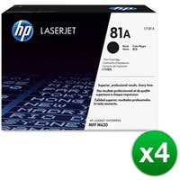 HP 81A Black Original LaserJet Toner Cartridge (CF281A)(4-Pack)