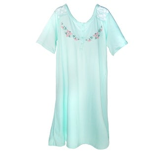 Sag Harbor Women's Embroidered Nightshirt Gown