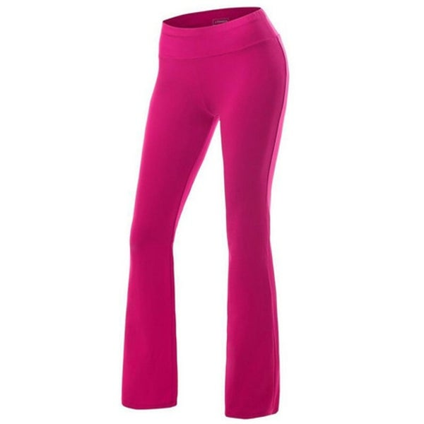 Womens Yoga Pants Active Slim Fit Bootleg Yoga Casual Pants. Opens flyout.