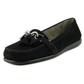 Aerosoles Super Soft Women  Round Toe Leather Black Flats