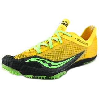 Saucony Endorphin Men Round Toe Synthetic Yellow Cleats