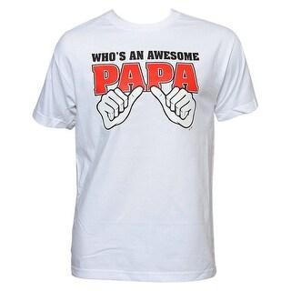 "Humor Tees Men's ""Who's an Awesome Papa?"" Custom T-Shirt"