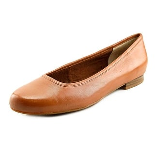 Ros Hommerson Odelle Women SS Round Toe Synthetic Tan Flats