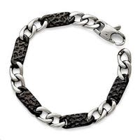 Chisel Stainless Steel Polished Black IP-plated Link Bracelet
