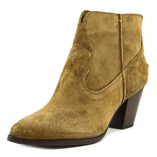 Frye Renee Seam Short Pointed Toe Leather Ankle Boot