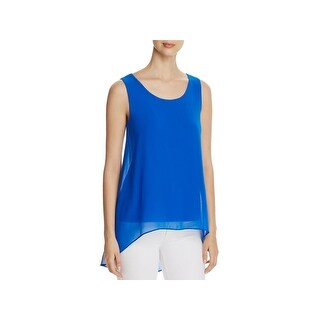 Calvin Klein Womens Casual Top Chiffon Overlay Hi-Low (5 options available)