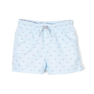 Azul Baby Boys Blue Stripe Fish Print Guppy Go Lucky Swim Shorts