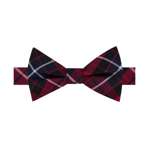 Tommy Hilfiger Mens Plaid Self-Tied Bow Tie - One Size