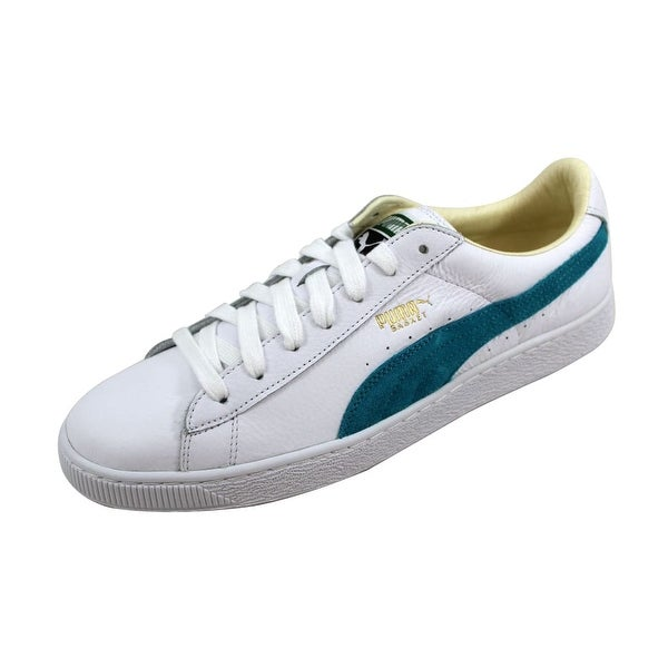 Puma Men's Basket Classic White/Capri Breeze 351912 32 Size 12