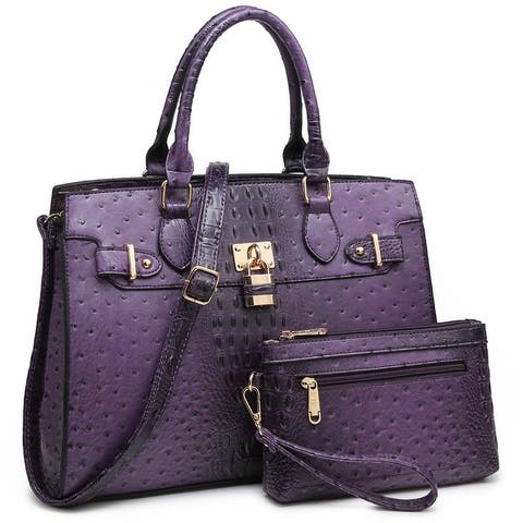 Dasein Women Handbags Purses Shoulder Bag Top Handle Satchel Tote Work Bag with Matching Clutch