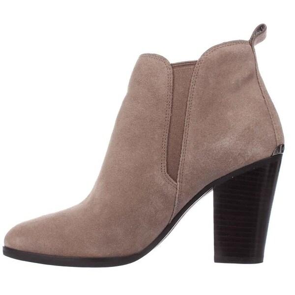 MICHAEL Michael Kors Womens Brandy Suede Almond Toe Ankle Fashion Boots