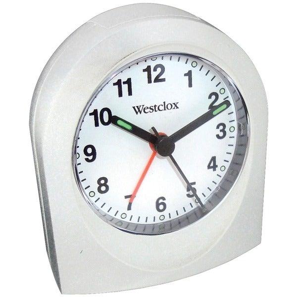 Westclox 47312B Bedside Analog Alarm Clock (White)