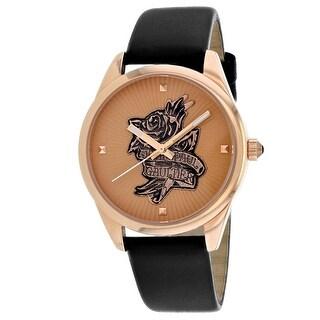 Jean Paul Gaultier Women's Navy Tattoo 8502411 Rose-Tone Dial watch