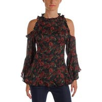 IRO. Jeans Womens Casual Top Silk Floral Print