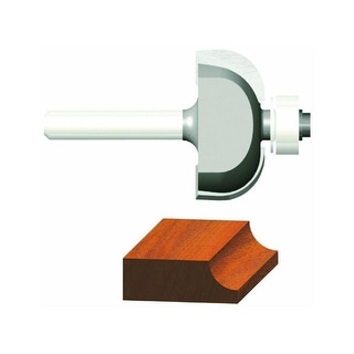 """Vermont American 23141 Carbide Tipped Silver Series Cove Router Bit, 1-1/2"""" OD"""
