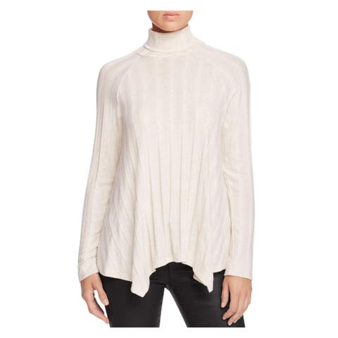 Bobeau Womens Pullover Sweater Ribbed Knit Heathered