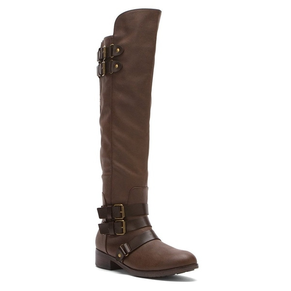 Dolce Vita Womens Vita Leather Almond Toe Knee High Fashion Boots