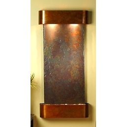 Adagio CSR1004 Cascade Springs - Rajah Natural Slate Rustic Copper Wall Fountain