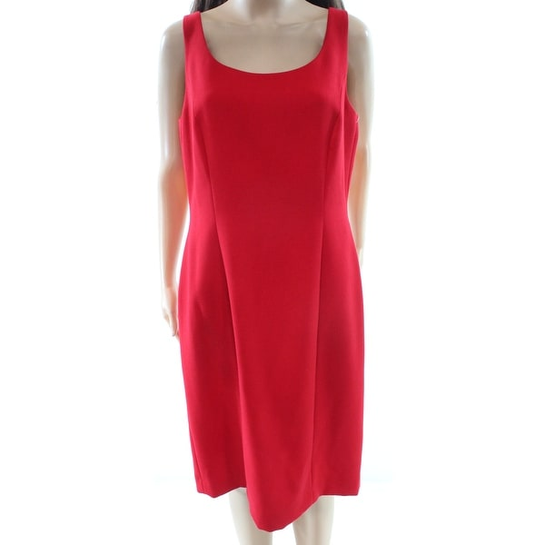 80a329d3f6d Shop Tahari by ASL NEW Red Women s 10 Ponte Knit Single Button Dress Suit - Free  Shipping Today - Overstock - 20110425
