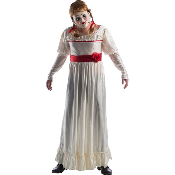 Shop Adult Deluxe Annabelle Doll Horror Costume - Free -5148