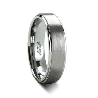 THORSTEN - OPTIMUS Raised Center with Brush Finish Tungsten Ring - 6mm