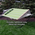 Sunnydaze 2-Person Quilted Hammock with Spreader Bars and Detachable Pillow - Thumbnail 8