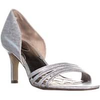 A35 Giorjah D'Orsay Slide Sandals, Silver - 7 us