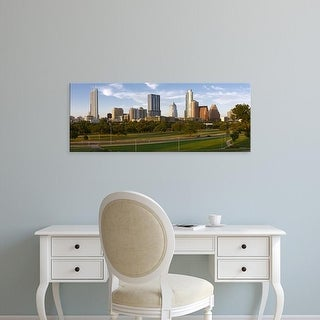 Easy Art Prints Panoramic Images's 'Buildings in a city, Austin, Travis County, Texas, USA' Premium Canvas Art