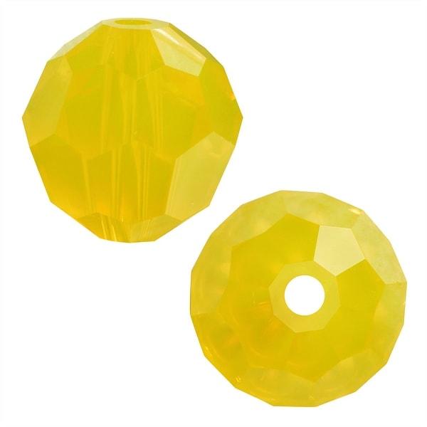 Swarovski Elements Crystal, 5000 Round Beads 6mm, 10 Pieces, Yellow Opal