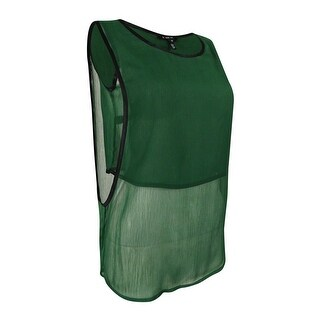 Kiind OF Women's Layered Sleeveless Top (S, Brunswick Green) - s