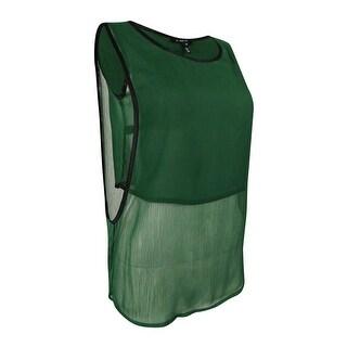 Kiind OF Women's Layered Sleeveless Top (S, Brunswick Green) - brunswick green - s