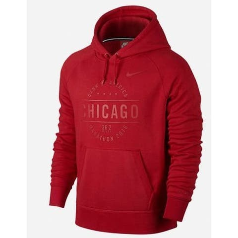Nike Womens Sweater Red Size Small S Chicago Marathon 2016 Pullover