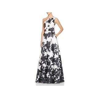 Carmen Marc Valvo Womens Formal Dress One Shoulder Full-Length