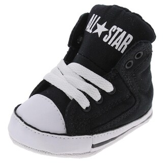 Converse First Star Crib Shoes High Top Faux Leather Trim - 1 medium (d) infant