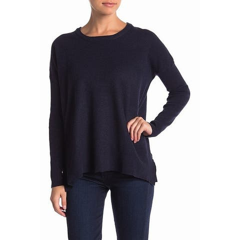 Sweet Romeo Navy Blue Womens Size Large L High-Low Crewneck Sweater 602