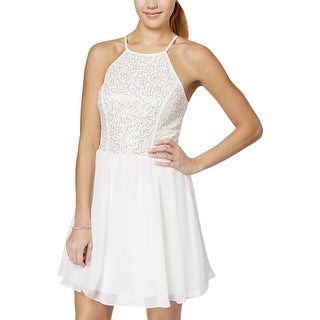 As U Wish Womens Juniors Party Dress Mixed Media Sequined - 9