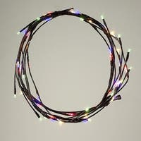 6' Pre-Lit Brown Decorative Christmas Garland - Multi-Colored LED Lights