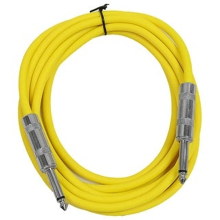 "SEISMIC AUDIO - Yellow 1/4"" TS 10' Patch Cable - Effects - Guitar - Instrument"