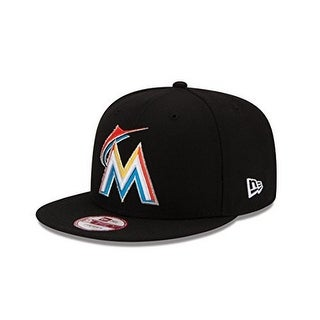 New Era Mens Baycik 950 Miami Marlins Snapback - Black