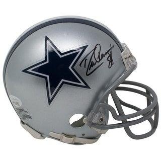 Drew Pearson Signed Dallas Cowboys Mini Helmet JSA