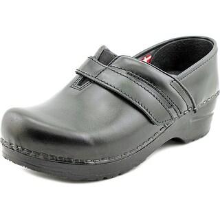 Sanita Ryland Women Round Toe Leather Black Nursing & Medical Shoe