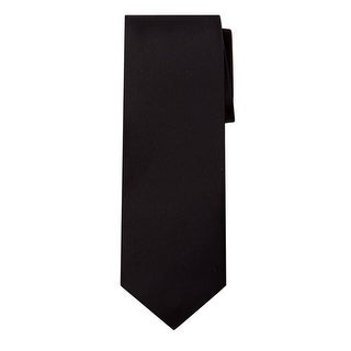 Marquis Men's Solid Neck Tie & Hanky Set (Option: Silver)