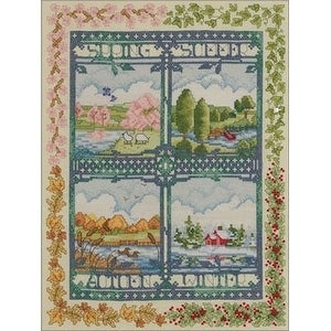 Bucilla 45572 Counted Cross Stitch Picture Kits, Four Seasons