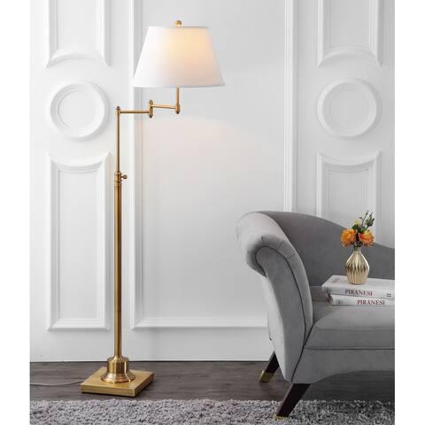"""SAFAVIEH Lighting 60-inch Ingram Swivel Gold Floor Lamp - 16""""x16""""x54.5-68.5"""""""