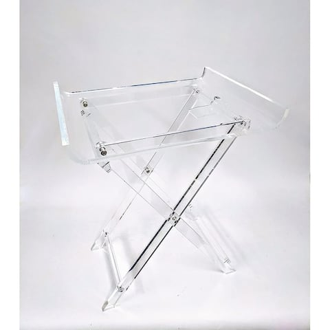 Designstyles Acrylic Folding Tray Table W/ Rounded Edges